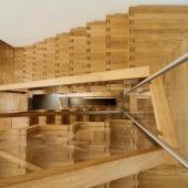 22 Podesttreppe als Faltwerktreppen über 3 Stockwerke
