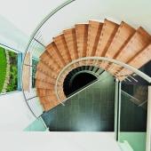 19 Segmentbogentreppe als ZEITFORM-Faltwerktreppe