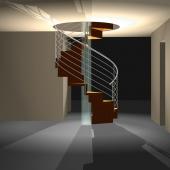 20 Kleine Wendeltreppe als ZEITFORM-Falttreppen mit Mittelsäule