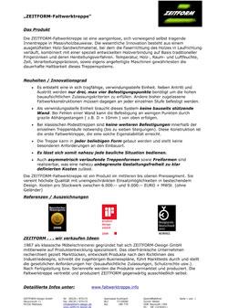 Presseinfo über unsere Faltwerktreppe in Kurzform  im PDF Format