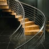Holz-Faltwerkwendeltreppe, 90cm (Antritt)